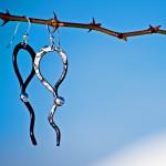 Järn och silver örhängen från Eva  Melin